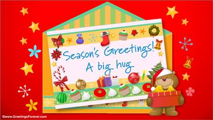 Christmas envelope with a big hug