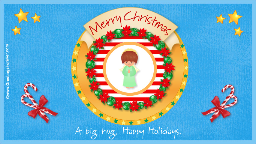 Ecard - Merry Christmas with angel