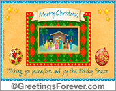 Christmas nativity scene ecard