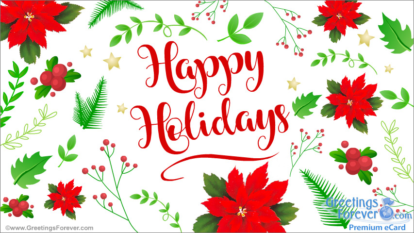 Ecard - Happy holidays greeting
