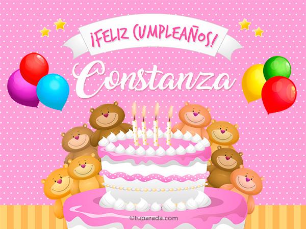Cumpleaños de Constanza Constanza, tarjetas