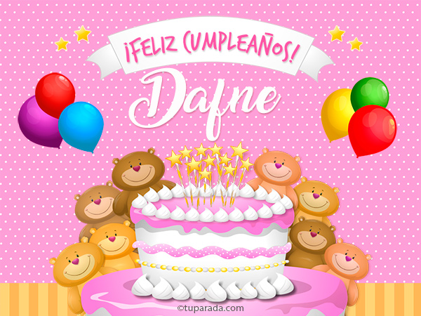 Tarjeta - Cumpleaños de Dafne