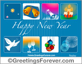 Happy new year ecard with images