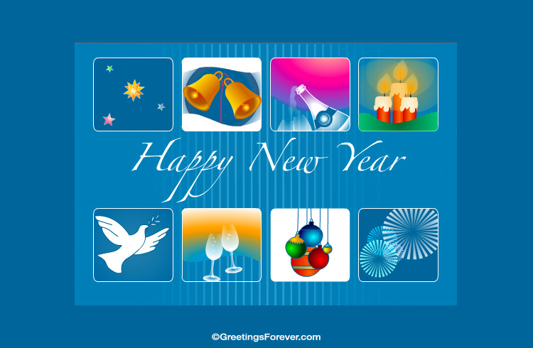 Ecard - Happy new year ecard with images