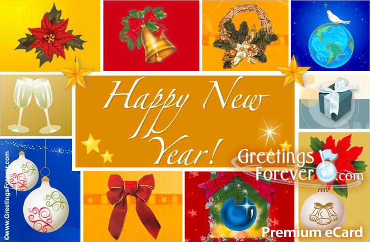 Ecard - New year greeting card