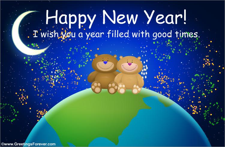 Ecard - Happy new year with bears