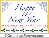 Happy new year egreeting