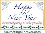 Happy new year egreeting
