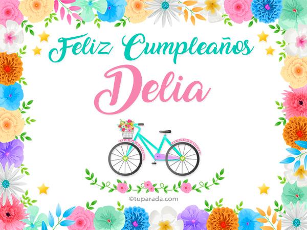 Tarjeta - Nombre Delia