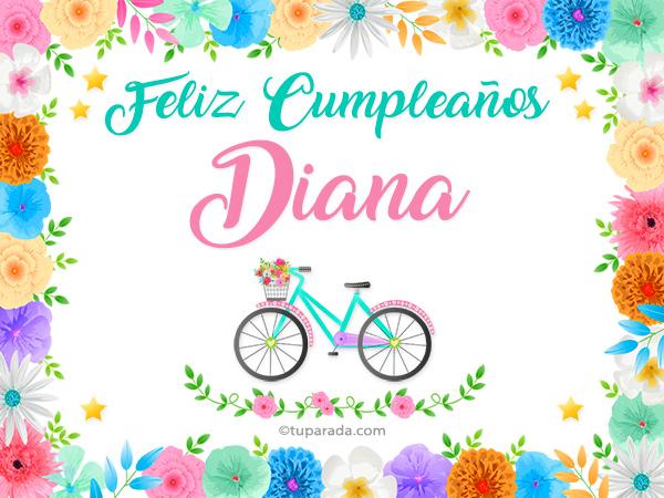 Tarjeta - Nombre Diana