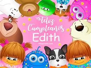 Feliz cumpleaños Edith