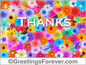 Tarjetas postales: Thanks e-card with flowers