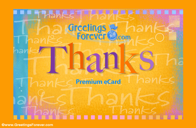 Ecard - Thanks greeting card