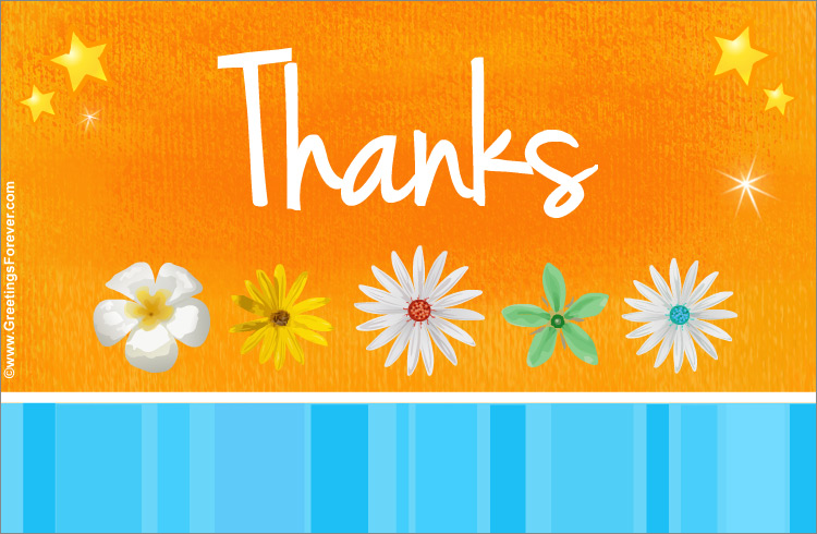 Ecard - Thanks ecard in orange