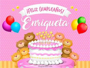Tarjetas, postales: Enriqueta