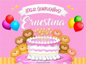 Tarjetas, postales: Ernestina