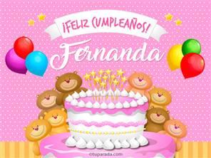 Tarjetas, postales: Fernanda