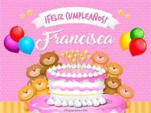 Tarjetas, postales: Francisca