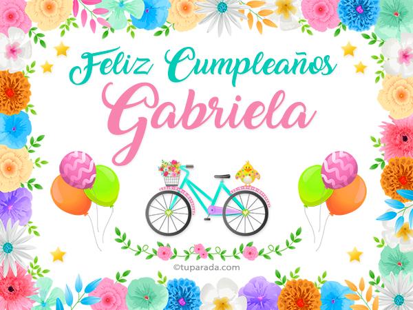Tarjeta - Nombre Gabriela