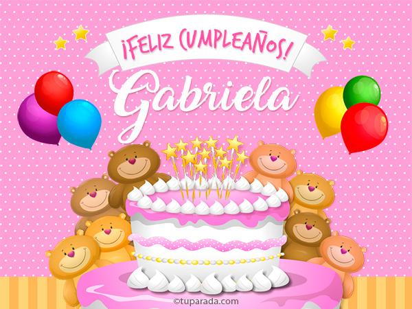 Tarjeta - Cumpleaños de Gabriela