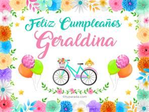 Tarjetas, postales: Geraldina