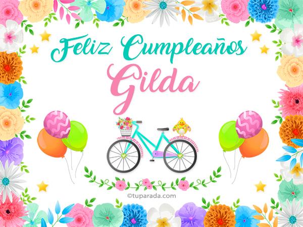 Tarjeta - Nombre Gilda