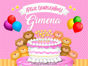 Tarjetas de  Gimena