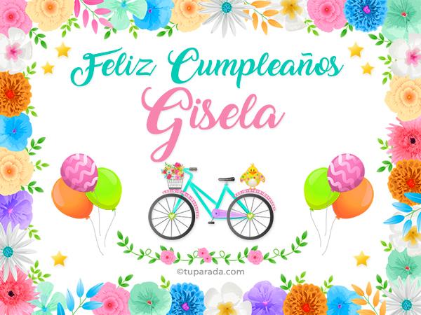 Tarjeta - Nombre Gisela