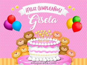 Tarjetas de  Gisela