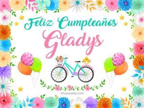 Tarjeta de Gladys