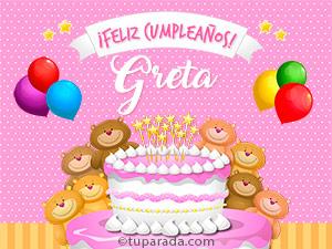 Tarjetas de  Greta