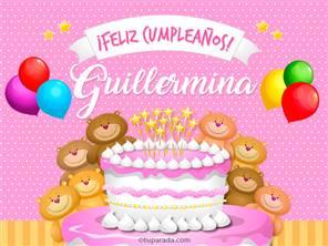 Tarjetas, postales: Guillermina