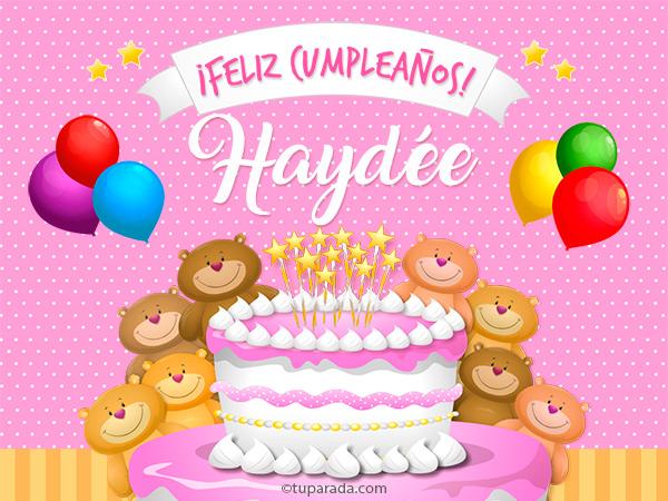 Tarjeta - Cumpleaños de Haydée