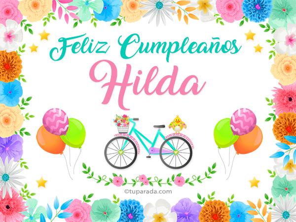 Tarjeta - Nombre Hilda