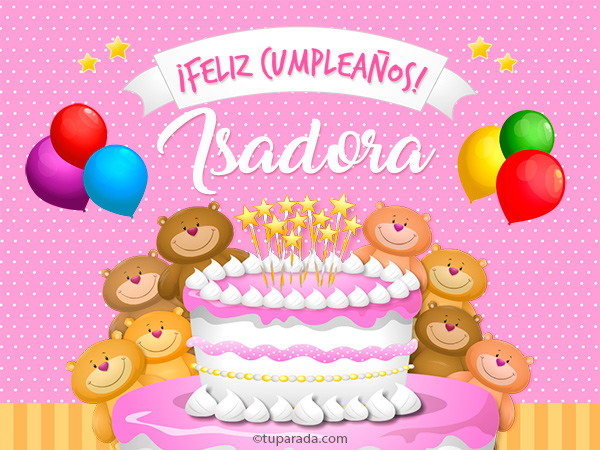 Tarjeta - Cumpleaños de Isadora