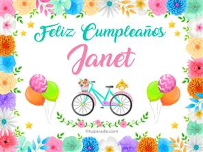 Tarjeta de Janet
