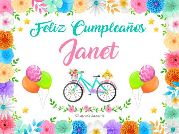 Tarjeta - Nombre Janet