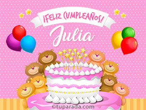 Tarjetas de Julia