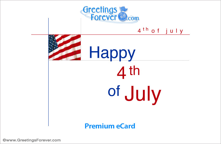 Tarjeta - Happy 4th of July