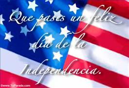 Tarjeta de la independencia de Estados Unidos