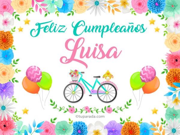 Nombre Luisa Luisa, tarjetas
