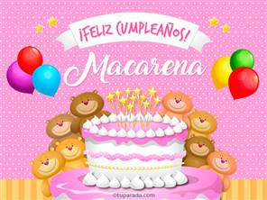 Cumpleaños de Macarena