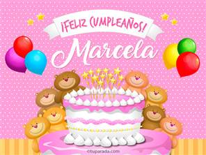 Tarjetas, postales: Marcela