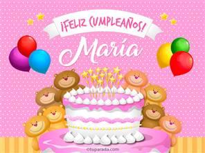 Tarjetas, postales: María