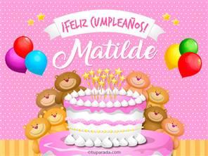 Tarjetas, postales: Matilde