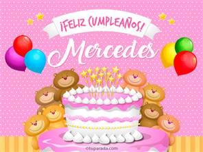 Tarjetas, postales: Mercedes