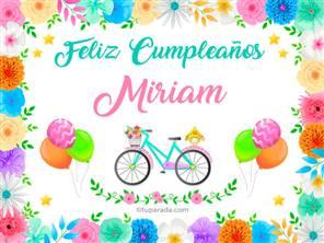 Tarjeta de Miriam