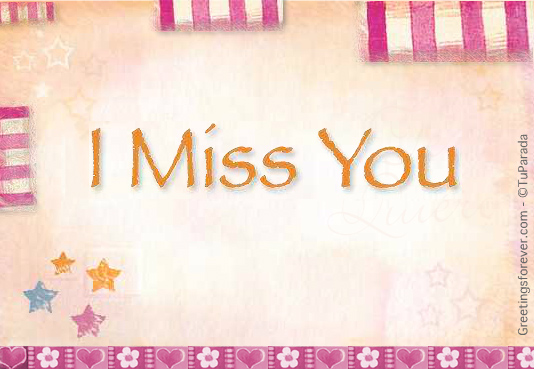 Ecard - I miss you, at your side