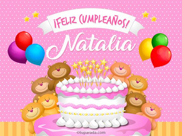 Tarjeta - Cumpleaños de Natalia