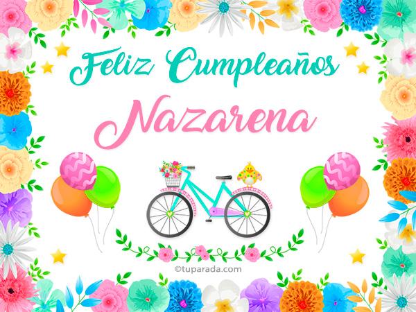 Tarjeta - Nombre Nazarena